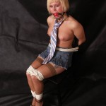 Blonde Bondage, Titties and a Neck Tie! starring Olivia