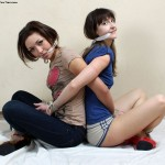 TwoTied.com Bound Back to Back, Pleasuring Each Other - Starring: Jessica and Ruslana