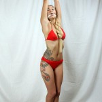 Nancy, Bikini Bondage Hoisted on Her Tiptoes. FREE from SweetTies.com